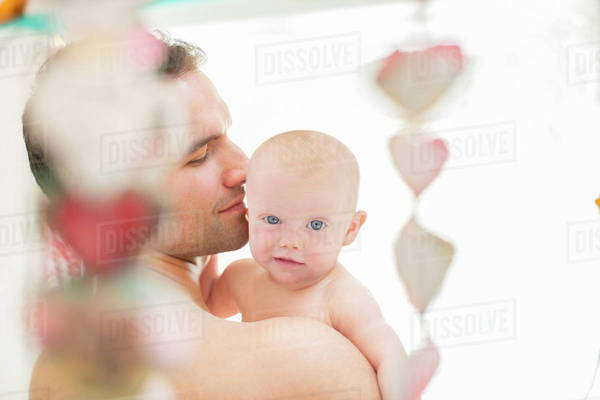 Father holding baby girl Royalty-free stock photo