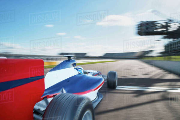 Formula one race car on sports track Royalty-free stock photo