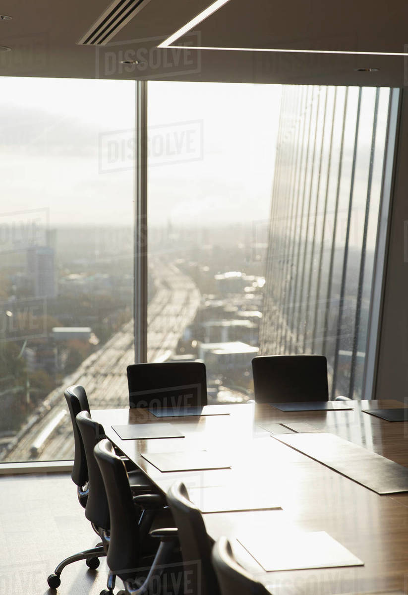 Sunny highrise conference room  Royalty-free stock photo