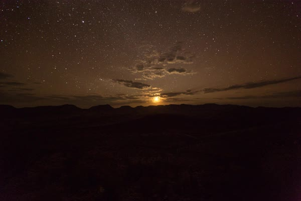 Timelapse of moonset in a desert Royalty-free stock video