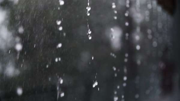 Close-up shot of rain Royalty-free stock video