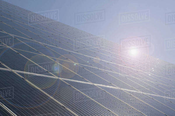Detail of solar panels Royalty-free stock photo