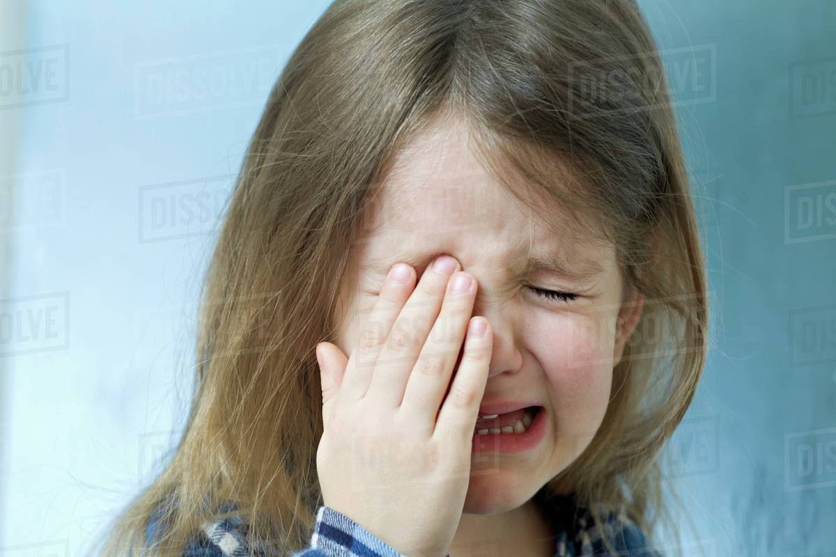 Close-up of a young girl crying Royalty-free stock photo