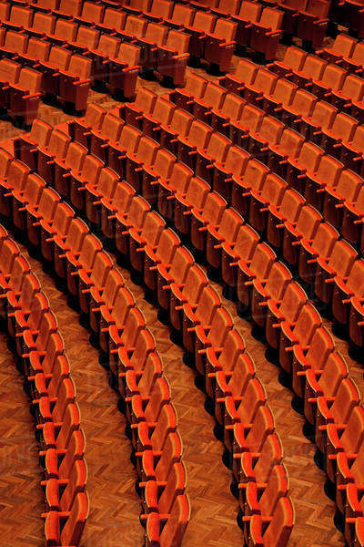 View of seats in a theater Royalty-free stock photo