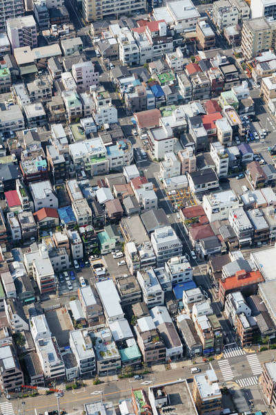 Aerial view of residential district Royalty-free stock photo