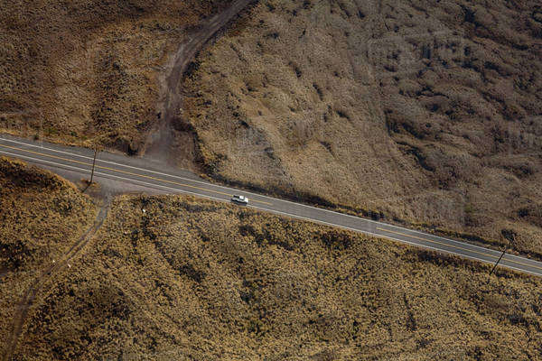 Rural highway, aerial view Royalty-free stock photo