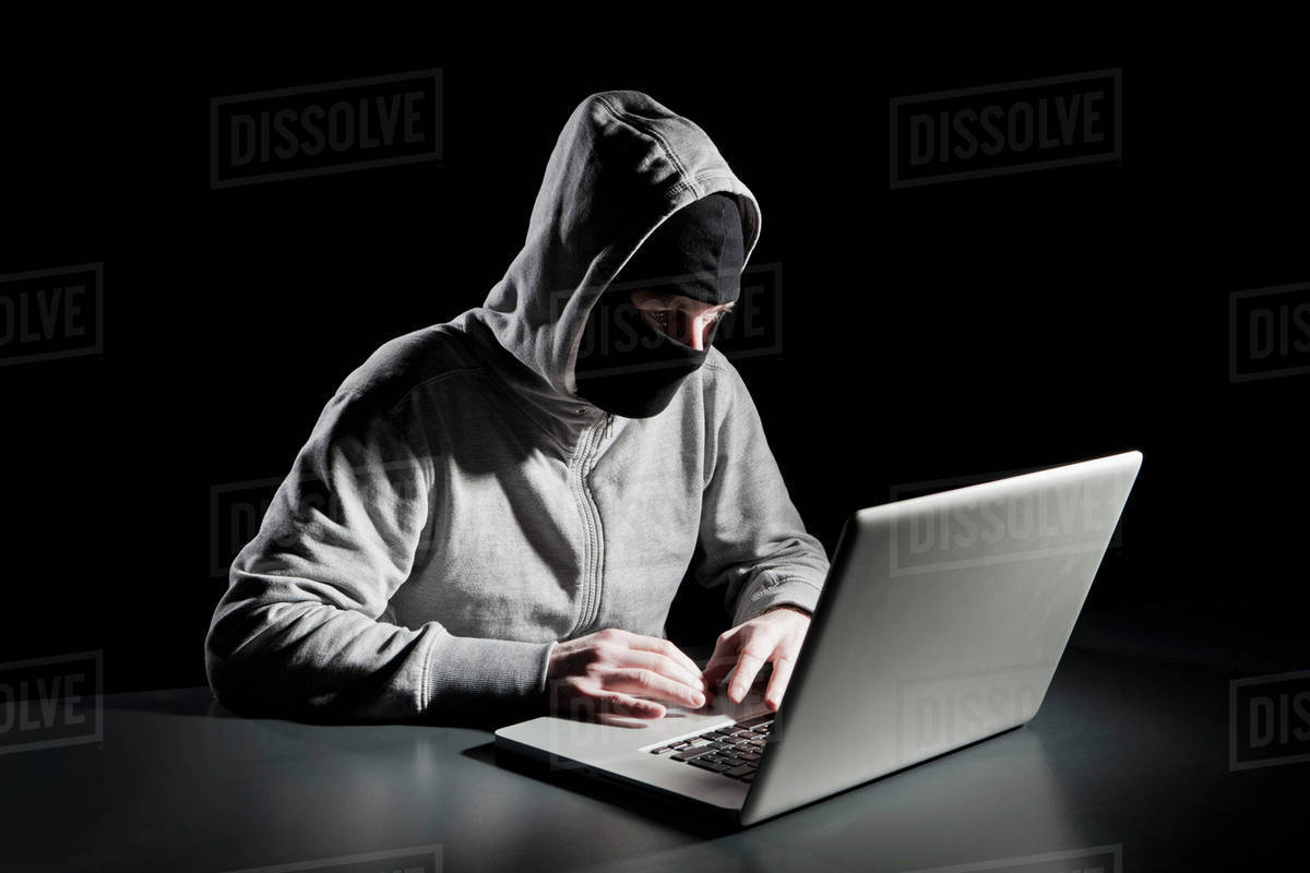 A computer hacker stock photo